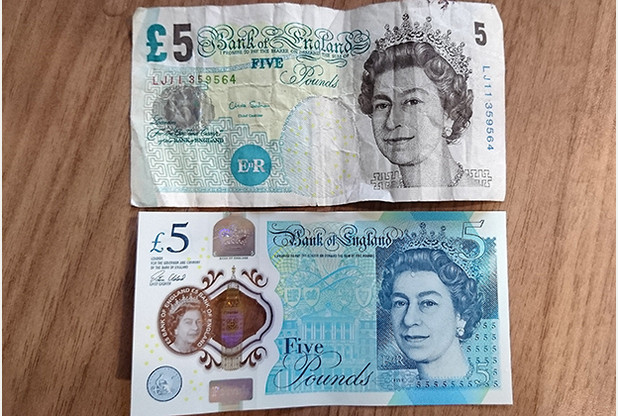 Important news about the old 5GBP note