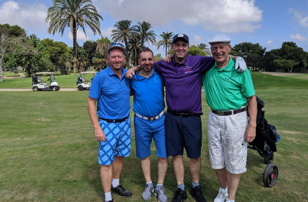 Paul Thomas, Yianni Theodorou, Daniel Casey and Peter Kirby at La Manga golf course